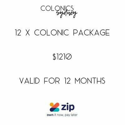 12 x Colon Hydrotherapy Package