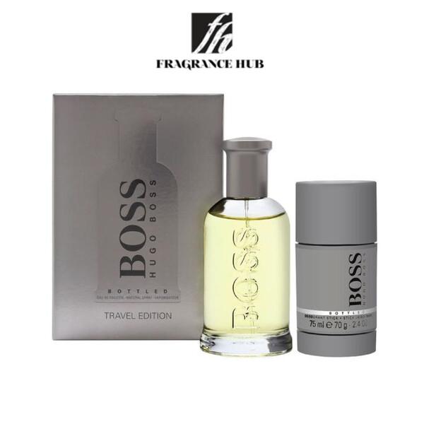 [Original] Hugo Boss Bottled No.6 100ml Travel Gift Set