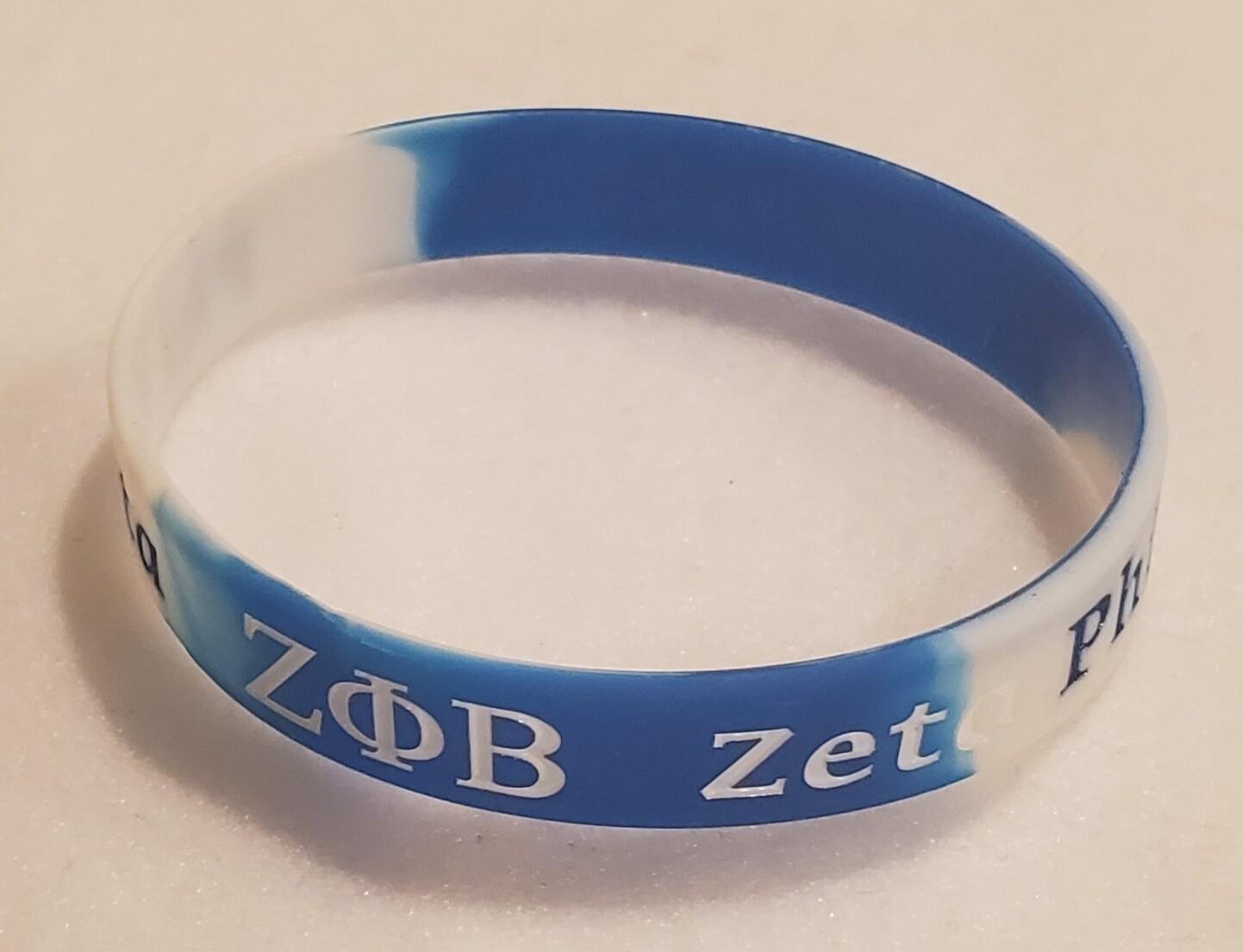 Zeta PHI Beta Silicone Band -1
