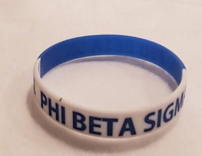 Phi Beta Sigma Silicone Band