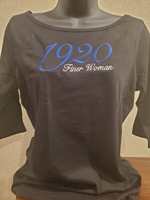 Zeta Phi Beta 3/4-Sleeve Tee 1920 Finer