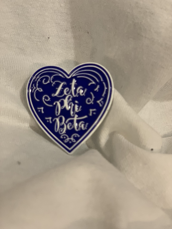 Zeta Heart Pin