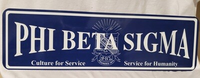 Phi Beta Sigma Aluminum Street Sign Display