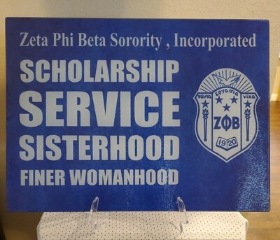 Zeta Phi Beta Display