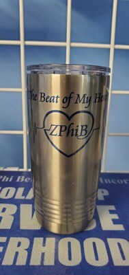 Beat of My Heart Tumbler - Silver