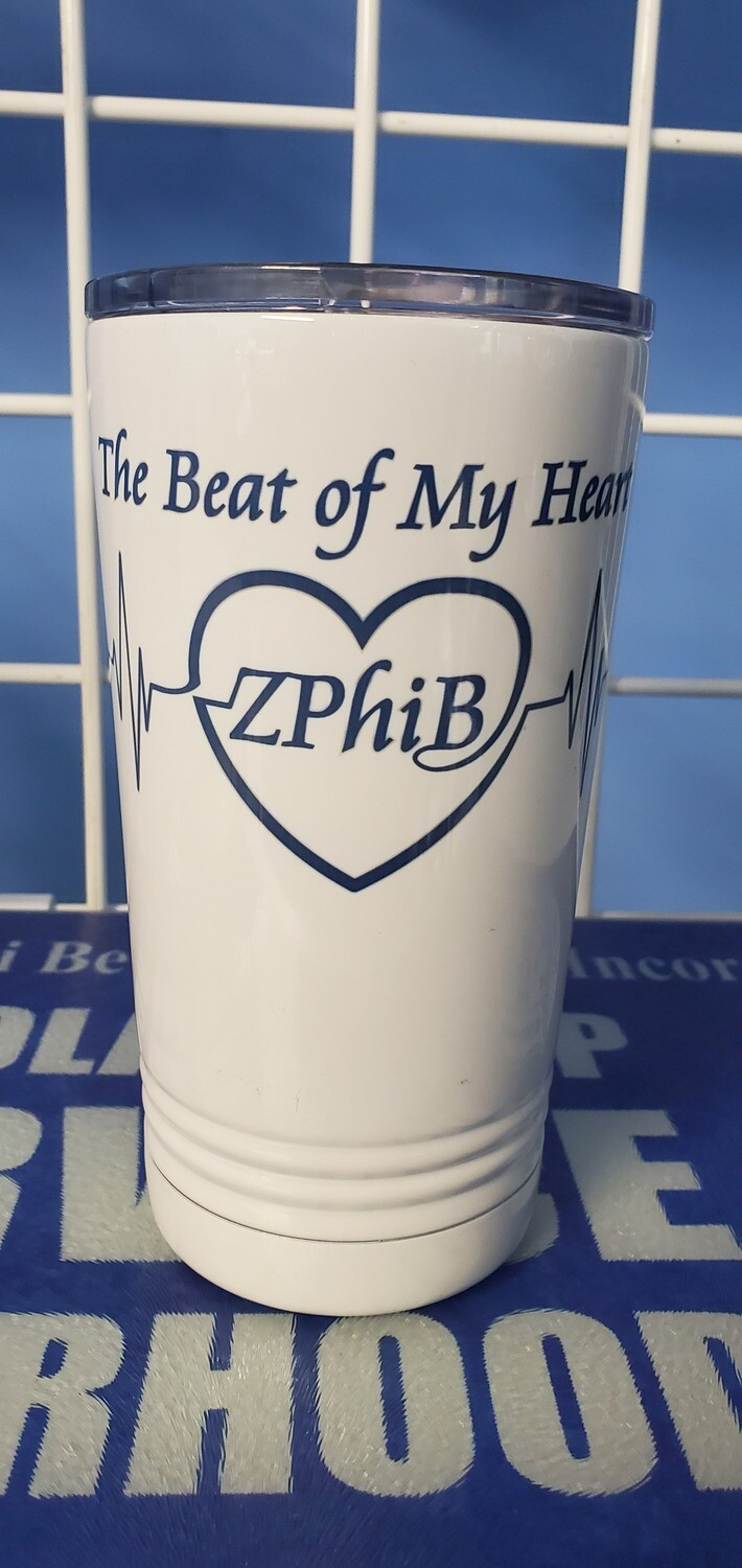 Beat of My Heart Tumbler - White