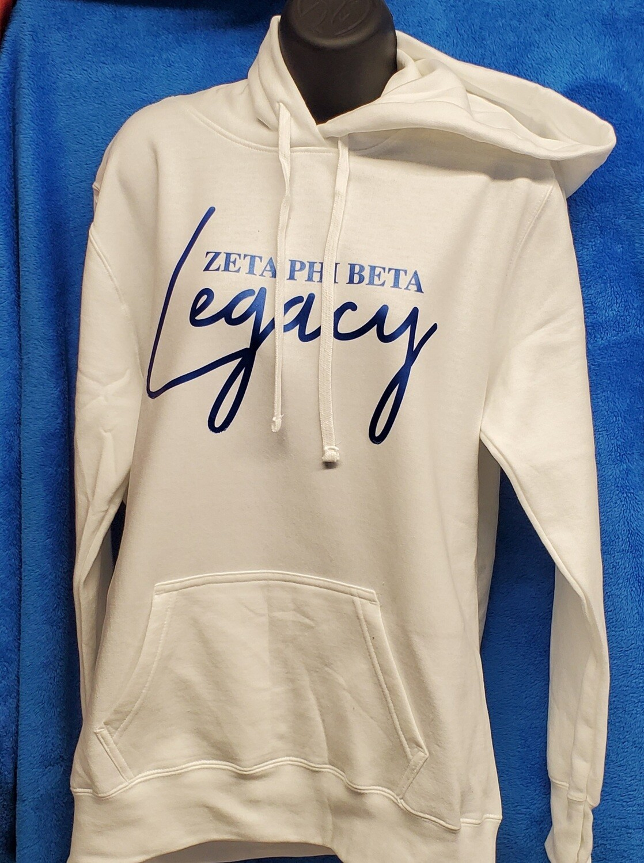 Zeta Phi Beta Legacy Hoodie - White