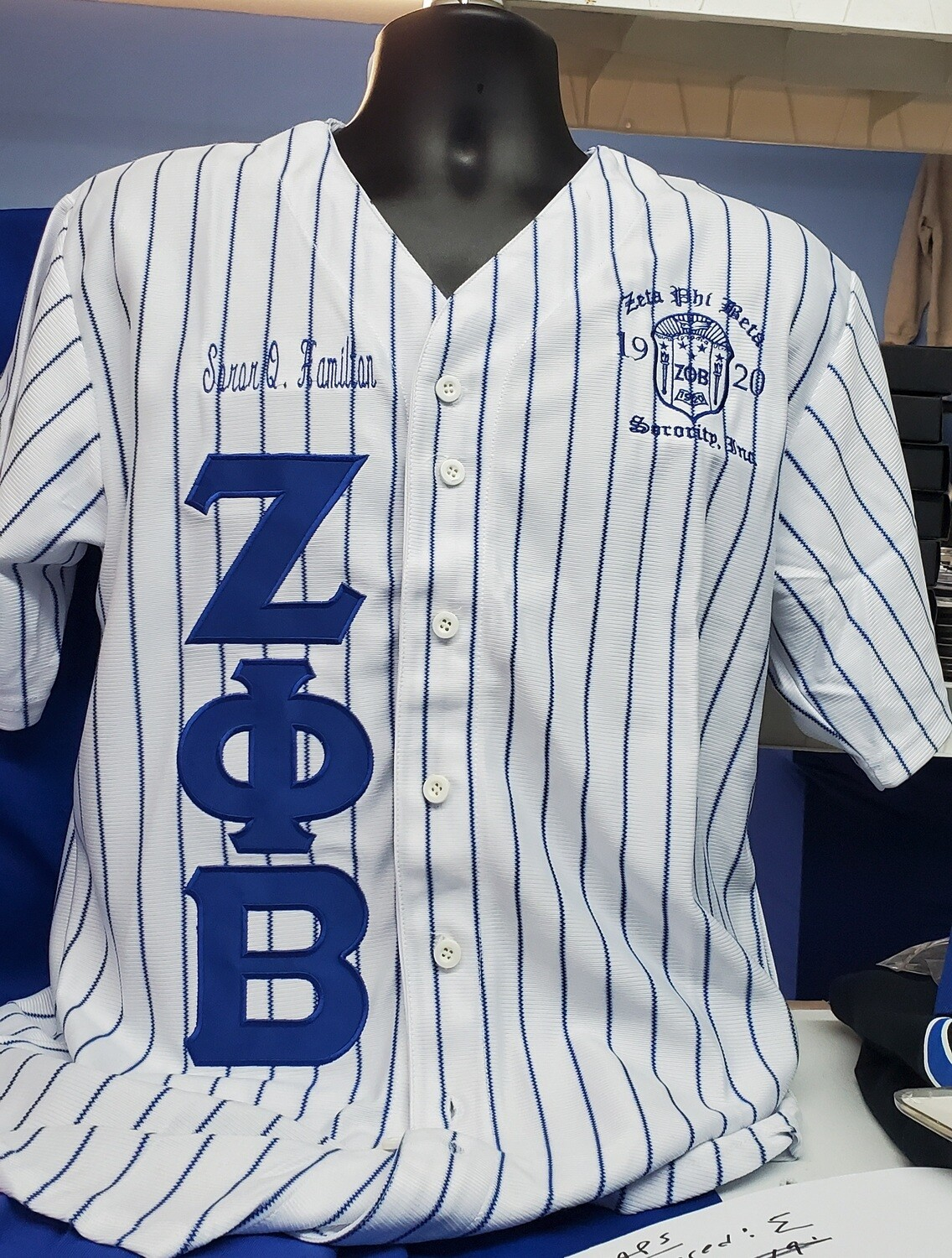 Personalized Name - Zeta Phi Beta Baseball Jersey