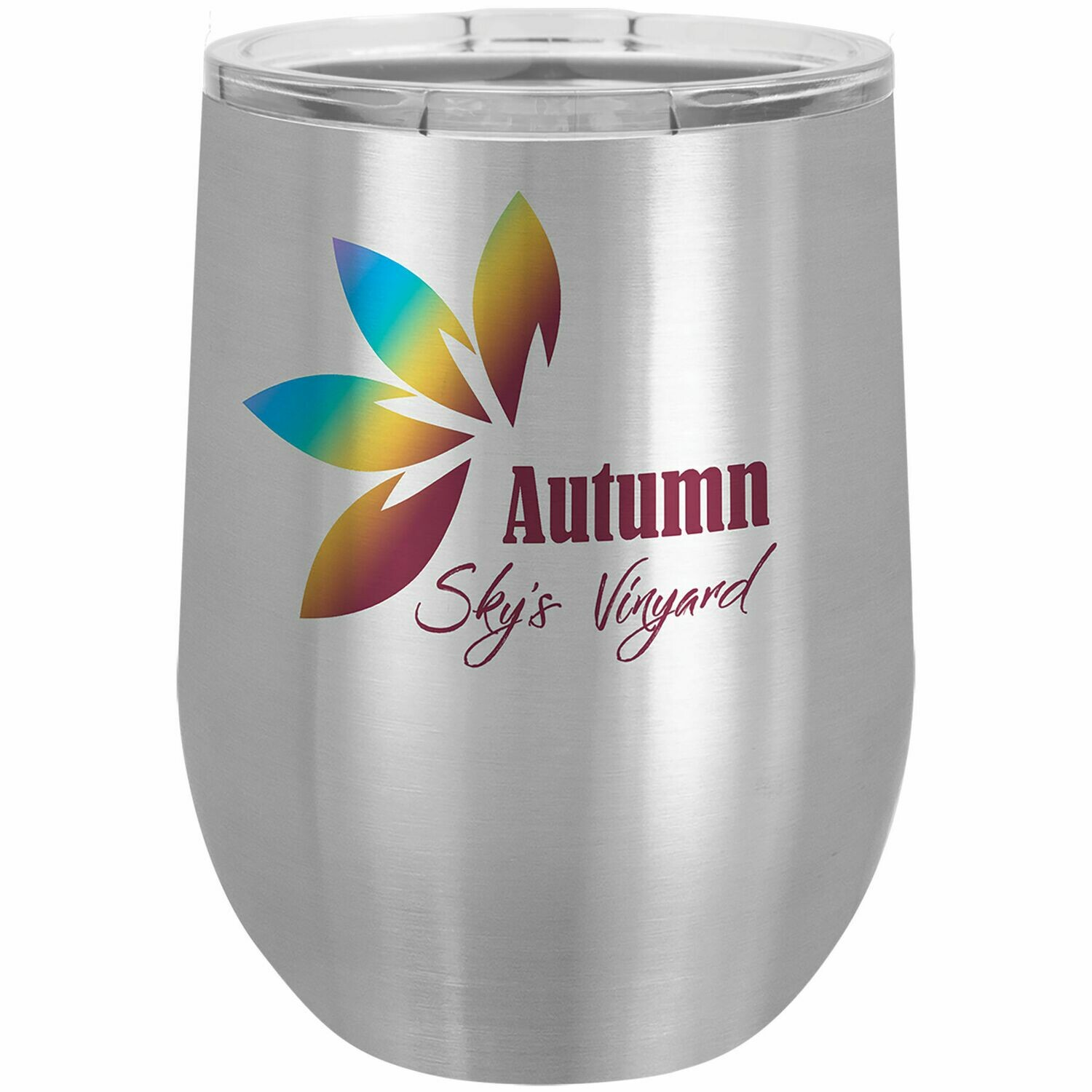 Stainless Steel 12 oz. Polar Camel Stemless Wine Tumbler with Lid