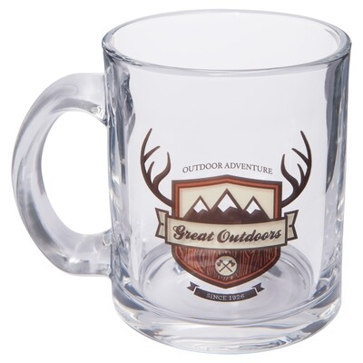10 oz. Clear Glass Mug with Handle