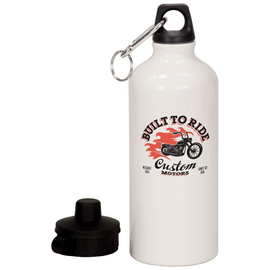 20 oz. White Aluminum Water Bottle