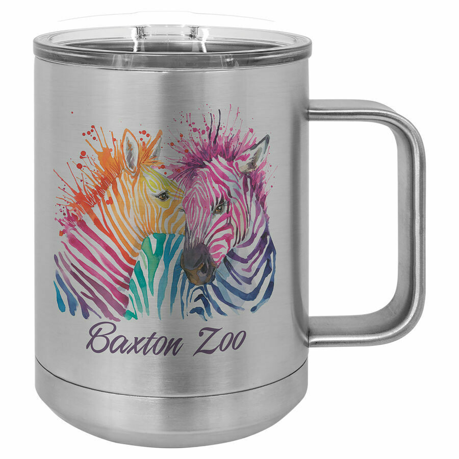 Polar Camel 15 oz. Stainless Steel Insulated Mug w/Slider Lid