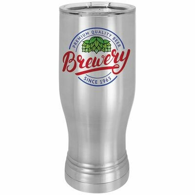 Stainless Steel 20 oz. Polar Camel Pilsner with Clear Lid