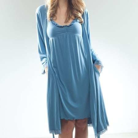 Bamboo Lace Trimmed Robe