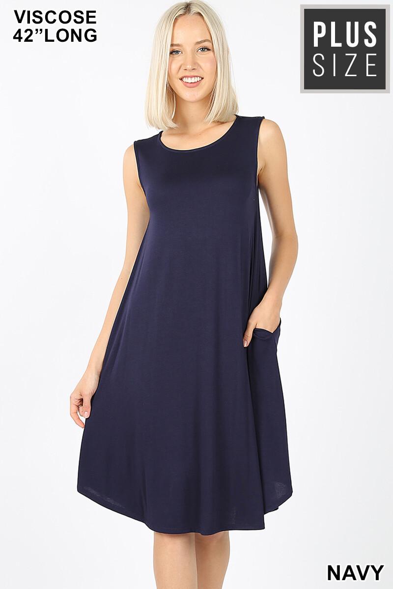 Sleeveless Bamboo Plus Size Dress