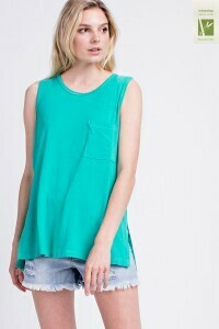 Sleeveless Pocket Bamboo Top