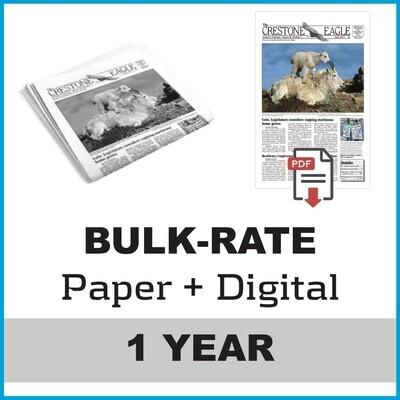 Crestone Eagle News - Annual Paper + Digital Subscription