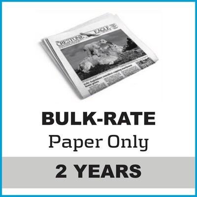 Crestone Eagle News -  2 Year Paper Subscription