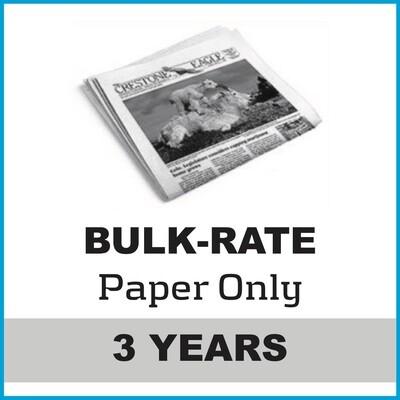 Crestone Eagle News -  3 Year Paper Subscription