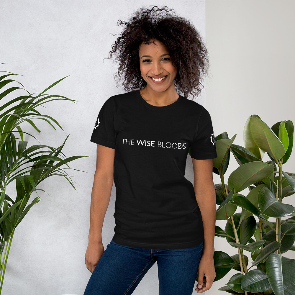 The Wise Bloods Text and logo 360 Unisex T-Shirt
