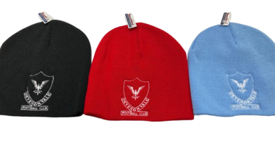 Beanie Hat - red, blue and black