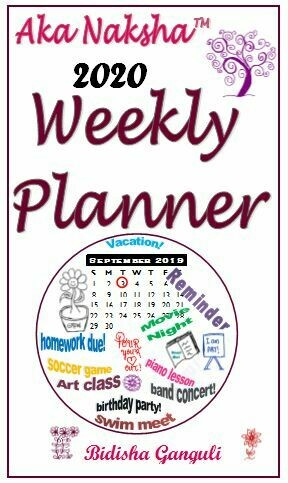 Aka Naksha 2020 Weekly Planner - Free Pickup