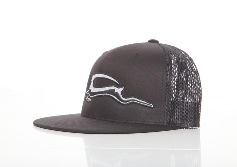 Trucker Mesh Embroidered SnapBack - Black
