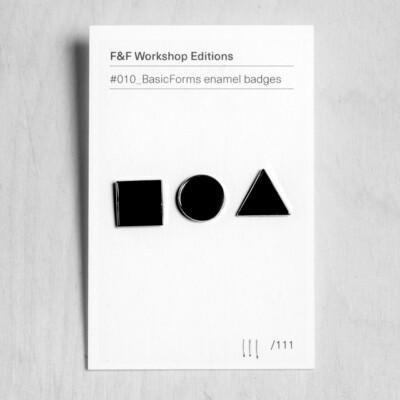 #010: BasicForms enamel pin badges