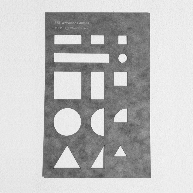 #002: Lettering stencil
