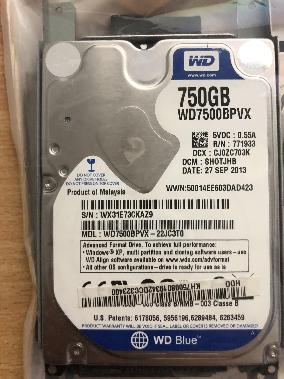 Hard disk interno 750 gb WD