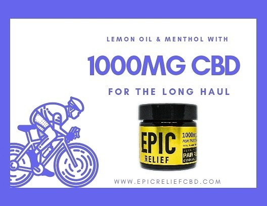 Epic Relief 1000mg CBD Cooling Lemon Balm