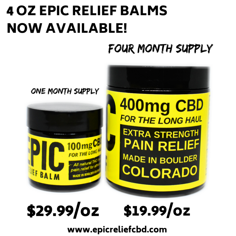 Epic Relief 4oz / 400mg CBD Topical