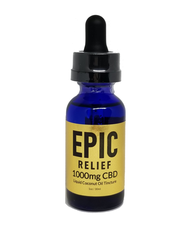 Epic Relief 1000mg CBD Isolate Tincture