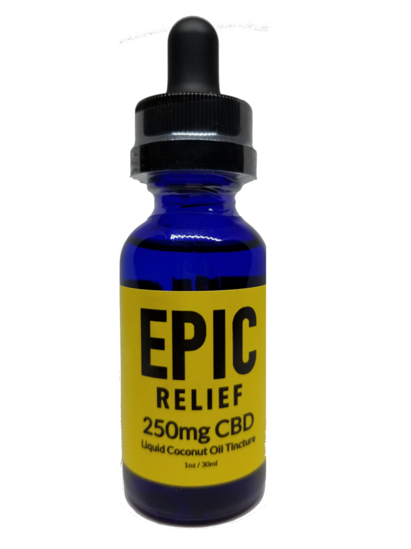 Epic Relief 250mg CBD Isolate Tincture