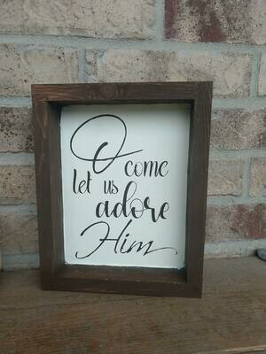 wooden framed quote, 8x10, hand painted