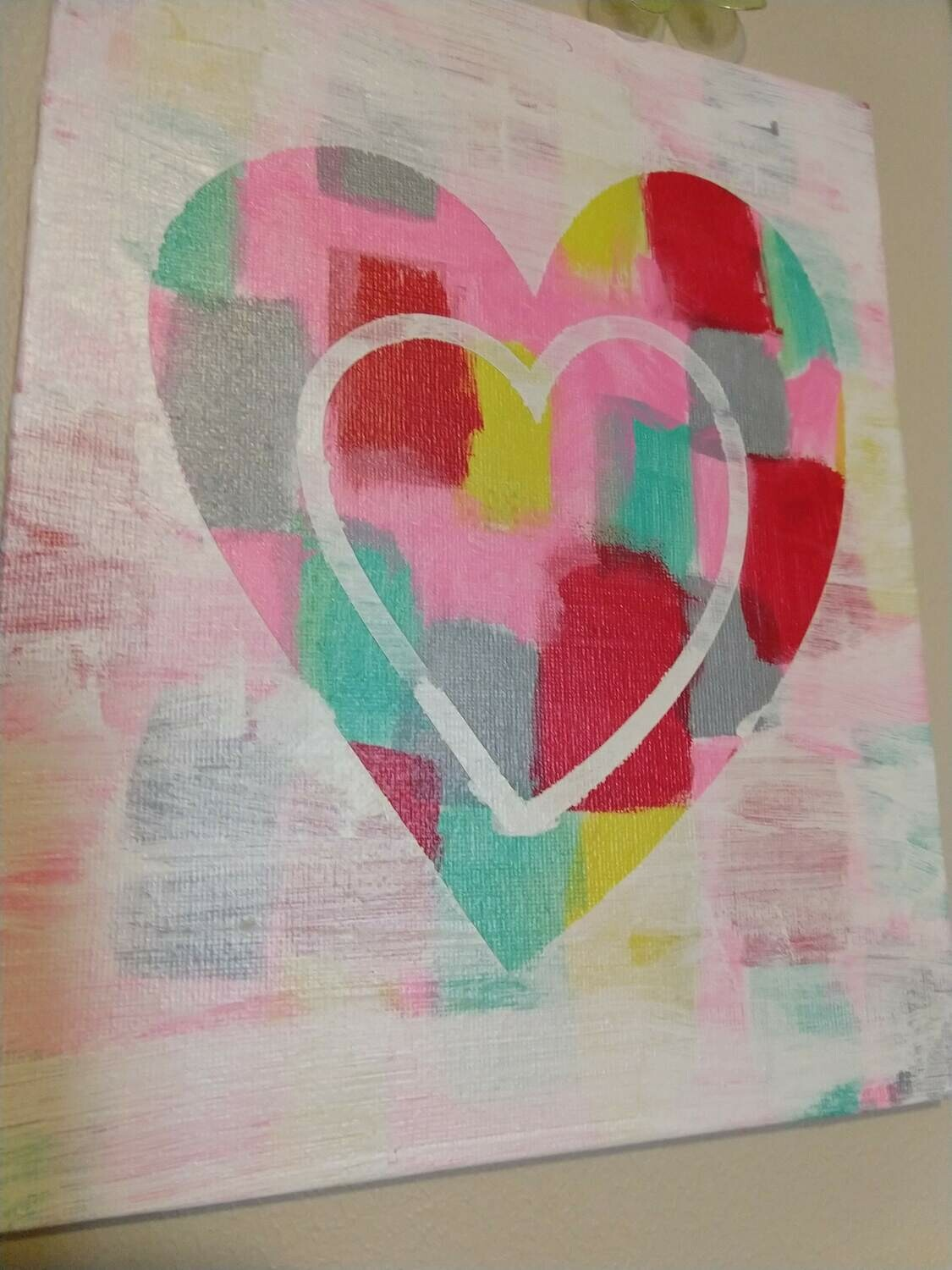 Valentine 8x10 Slim Canvas Panel Hot Mess Painting
