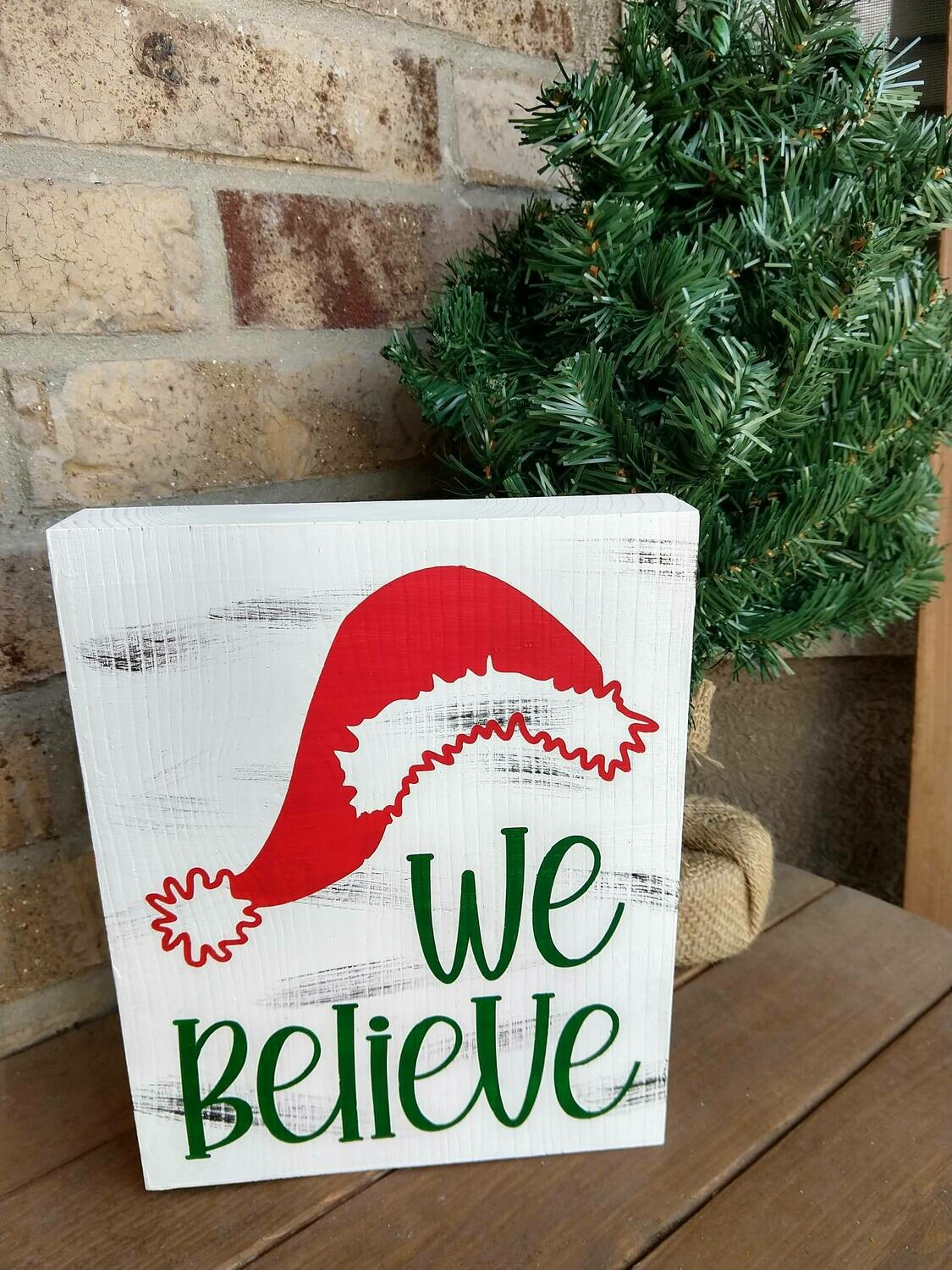 Christmas wood block quote, 8x10, hand painted