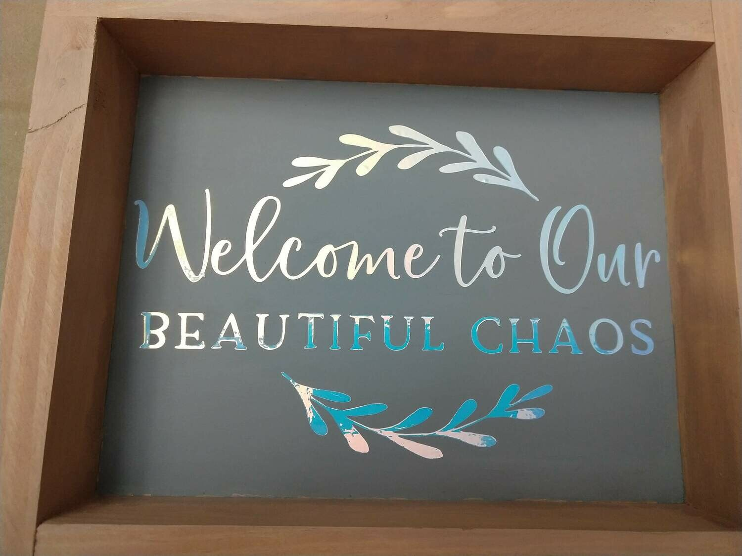 Wooden Sign, 8x10 featuring Opal vinyl