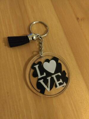Small personalized 2 inch keychain