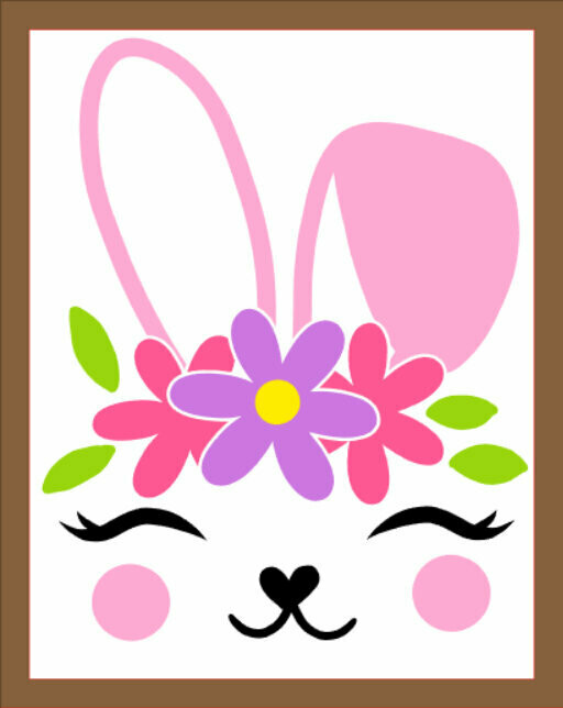 Easter wood sign with frame, 8x10, hand painted (or vinyl)
