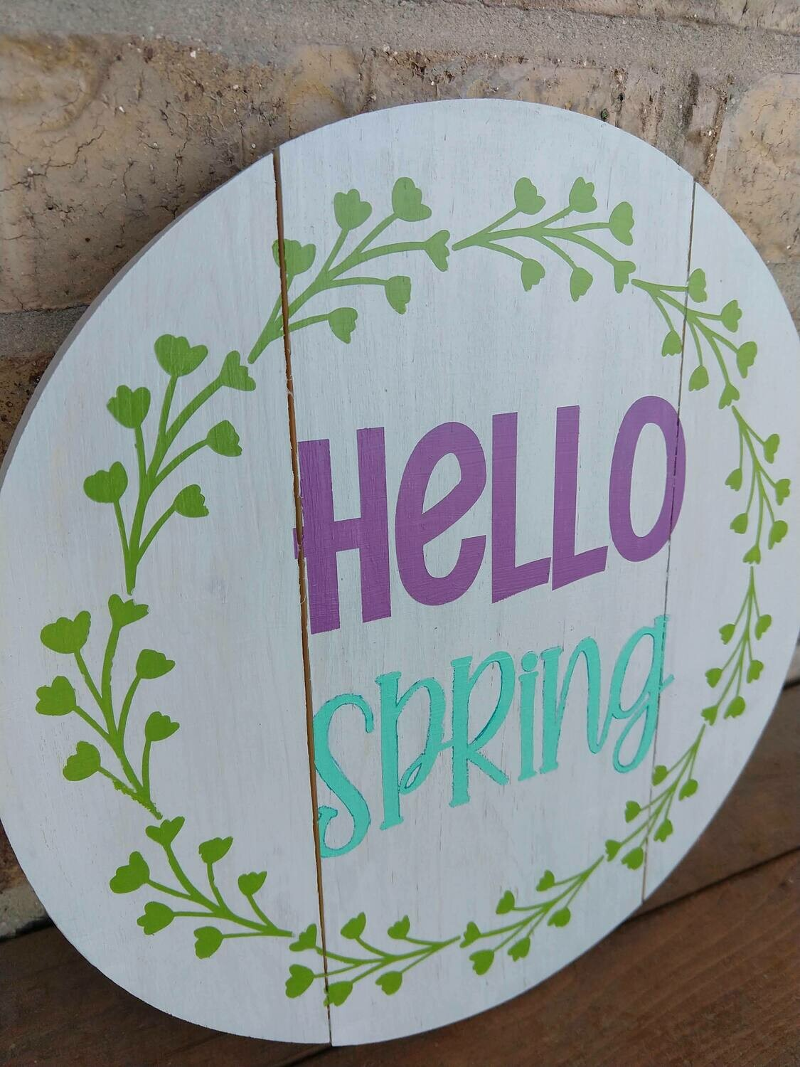 Wooden Round 12x12 hand painted sign