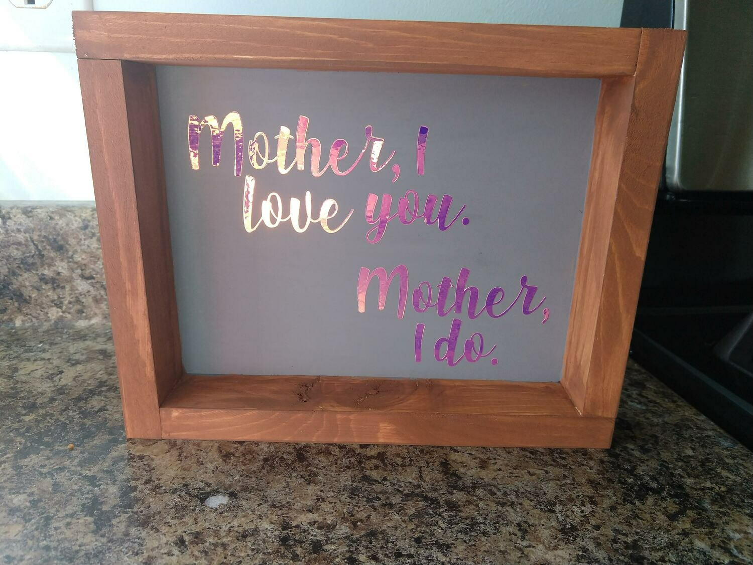 Mother's Day wood sign with frame, 8x10, hand painted (or vinyl)