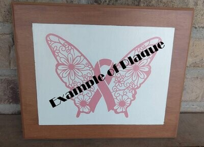 Halloween Wooden faux frame plaque, 8x10, hand painted