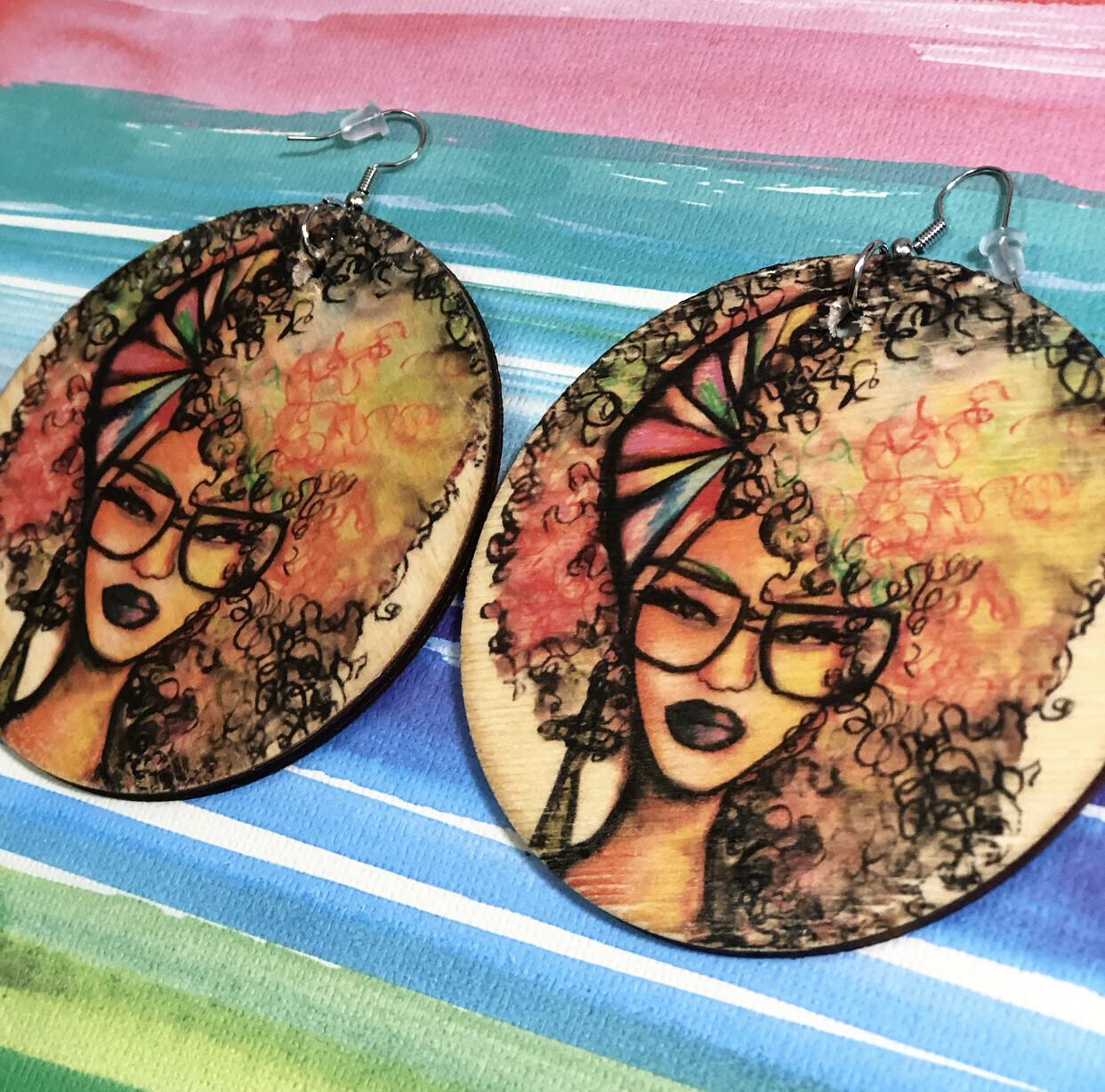 Beauty & Brains Jumbo Circle Earrings