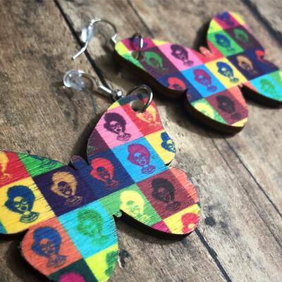 Fashion Fro Pop Culture Butterfly Earrings