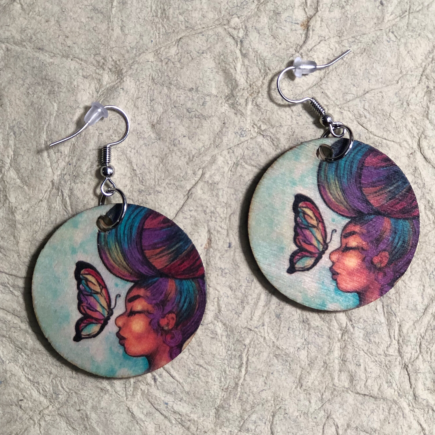 Empowered by Peace Small Circle Earrings