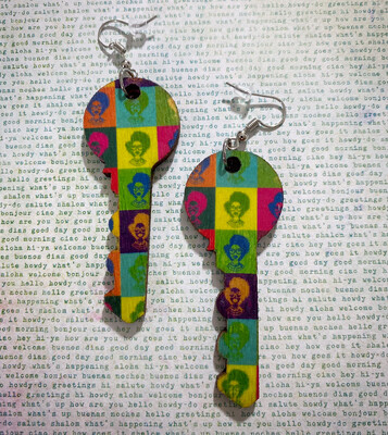 Fashion Fro Pop Culture Key Earrings
