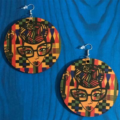 Genius Dashiki Jumbo Circle Earrings