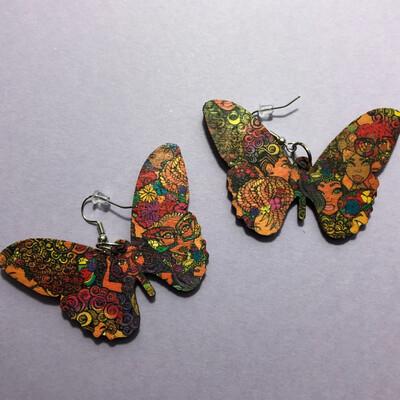 Flower Fro Butterfly Earrings