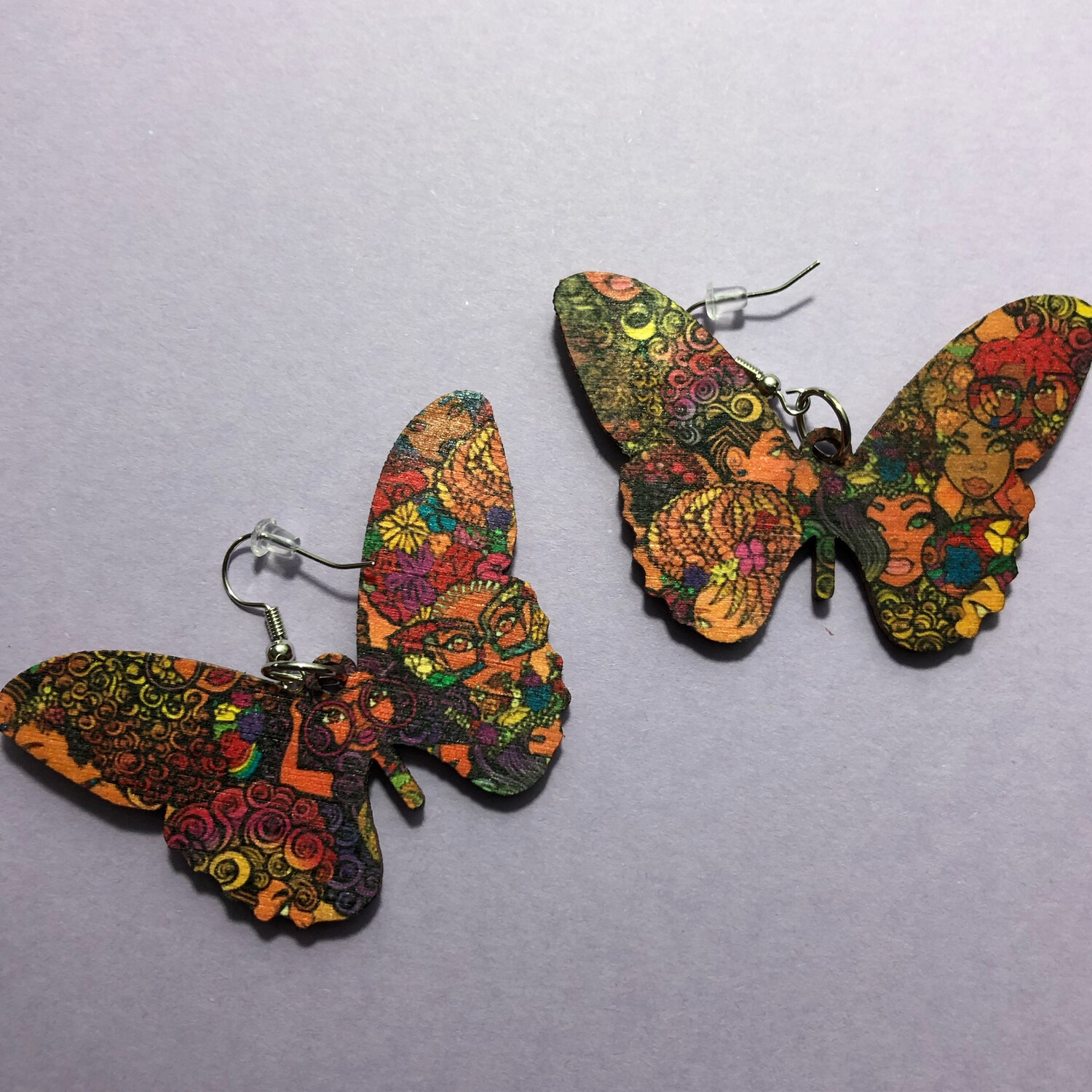 Flower Fro Butterfly Earrings